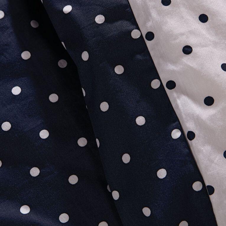 Living & Co Duvet Cover Set Cotton Print Dotty Navy Super King, Navy, hi-res