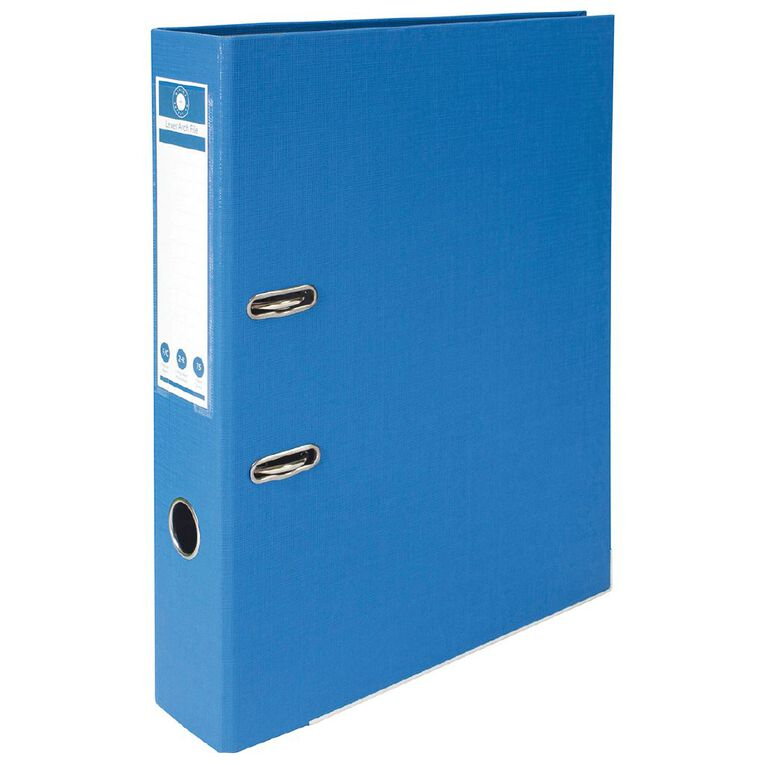 Office Supply Co Lever Arch Blue Foolscap, , hi-res