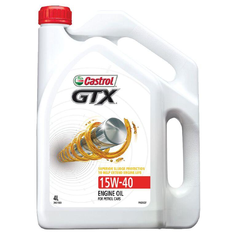 Castrol GTX 15W-40 4L SL Petrol Engine Oil, , hi-res