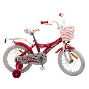 Milazo Girls' 16 inch White/Pink Bike-in-Box 409