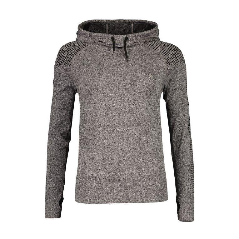 Active Intent Women's Seamless Hooded Sweatshirt, Grey Dark, hi-res