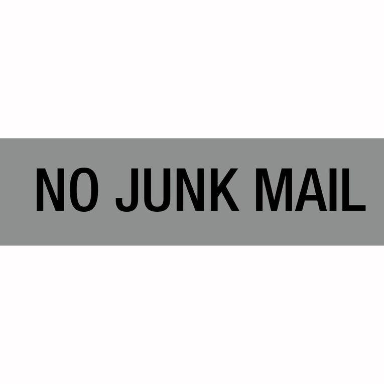 APLI Self Adhesive No Junk Mail Silver, , hi-res
