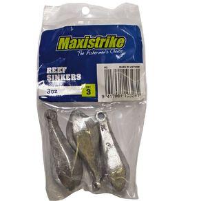 Maxistrike Fishing Sinkers Reef 3 oz 3 Pack