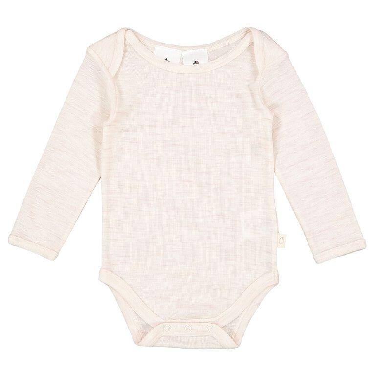 Young Original Baby Merino Bodysuit, Brown Light, hi-res