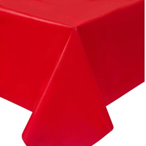 Party Inc Plastic Tablecover 137cm x 274cm Red
