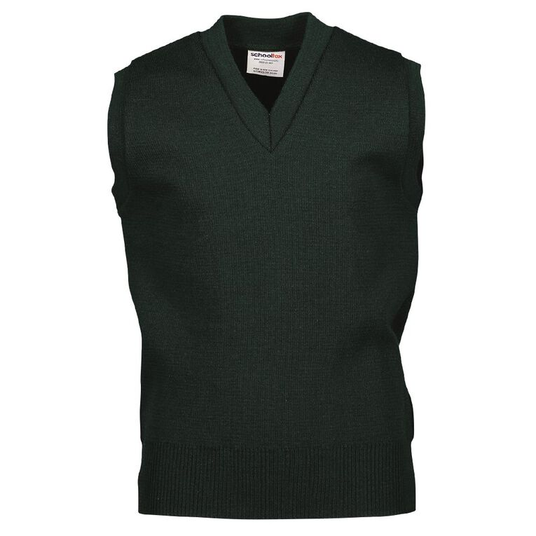 Schooltex Wool Vest, Bottle Green, hi-res