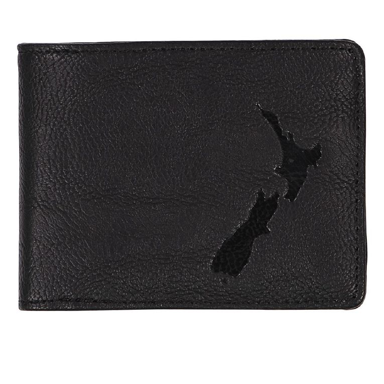 Urban Equip NZ Map Wallet, Black, hi-res image number null