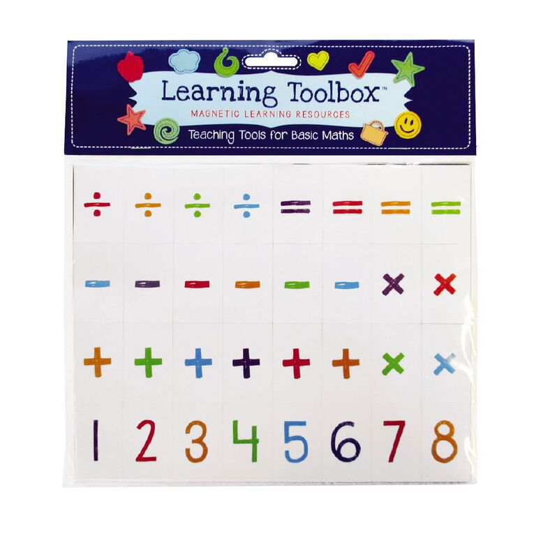 Learning Tool Box Magnetic Numbers Basic Maths Assorted, , hi-res image number null