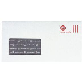 New Zealand Post DLE Envelope Prepaid Window 100 Pack