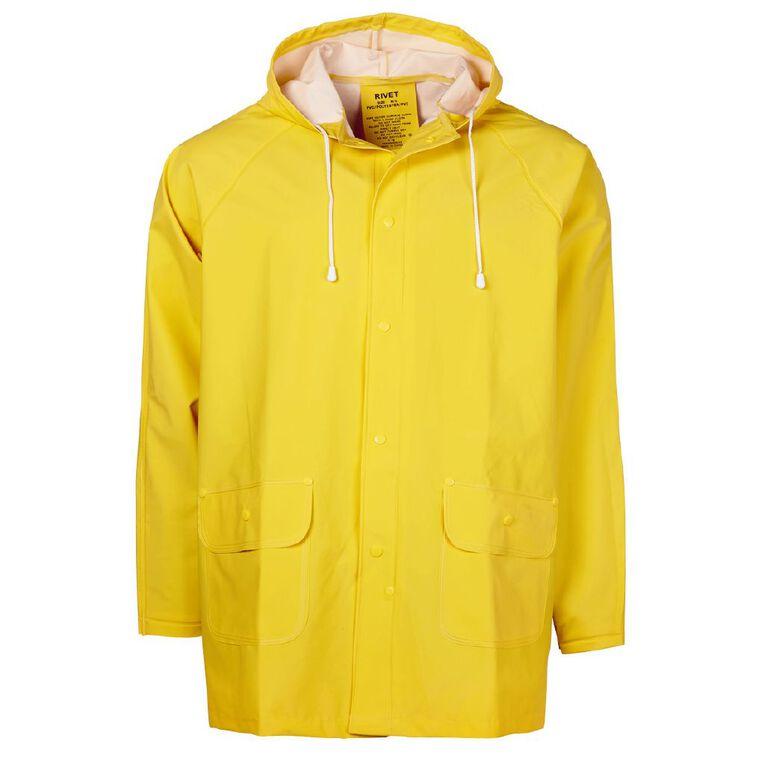 Rivet PVC Rain Jacket, Yellow, hi-res