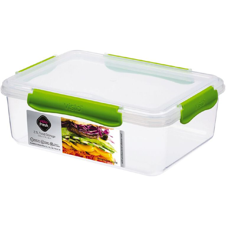 Visto Fresh Storage Container Clear Assorted 2.3L, , hi-res