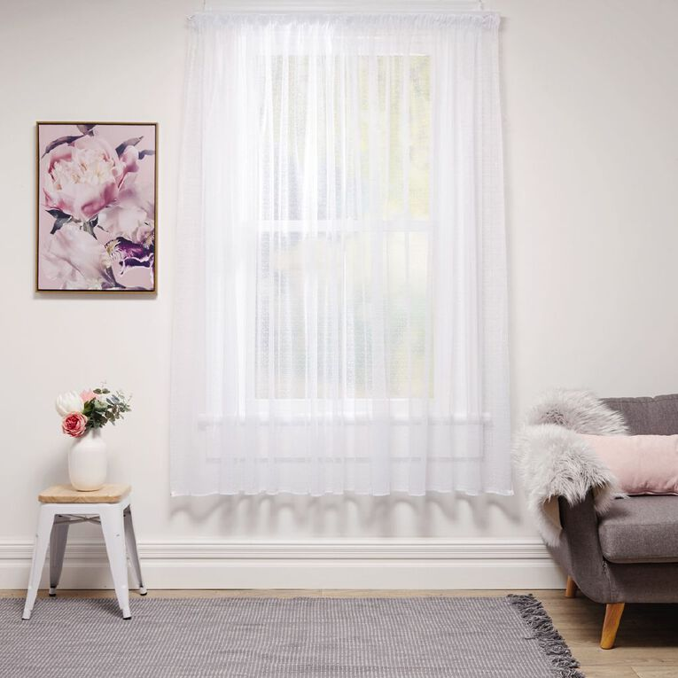 Living & Co Milano Net White 150cm x 120cm Drop, White, hi-res image number null