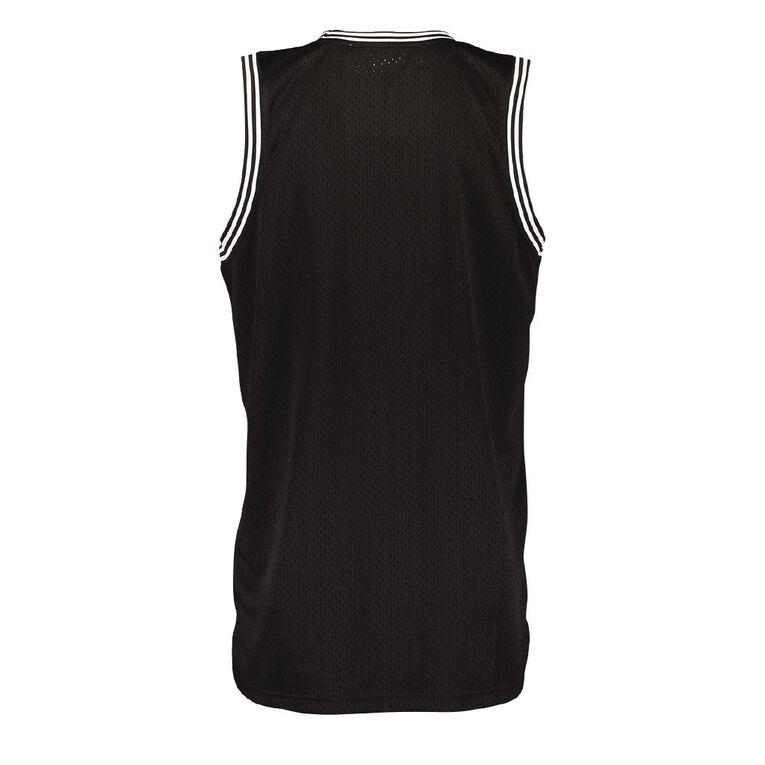 Active Intent Men's Supporter Basketball Singlet Tee, Black, hi-res
