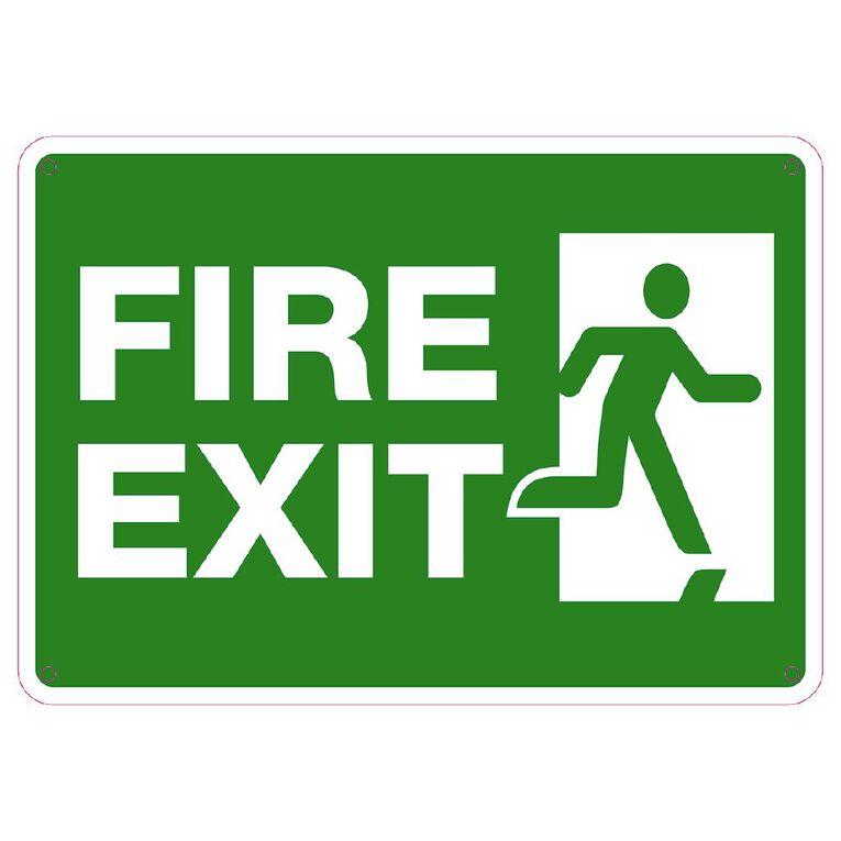 WS Fire Exit Sign Small 240mm x 340mm, , hi-res