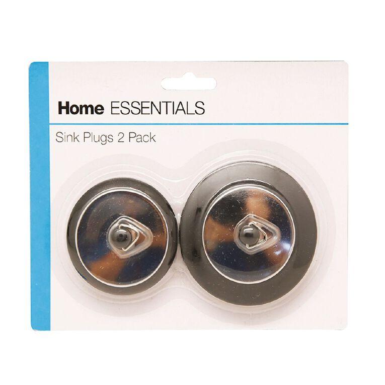 Home Essentials Sink Plugs 2 Pack, , hi-res