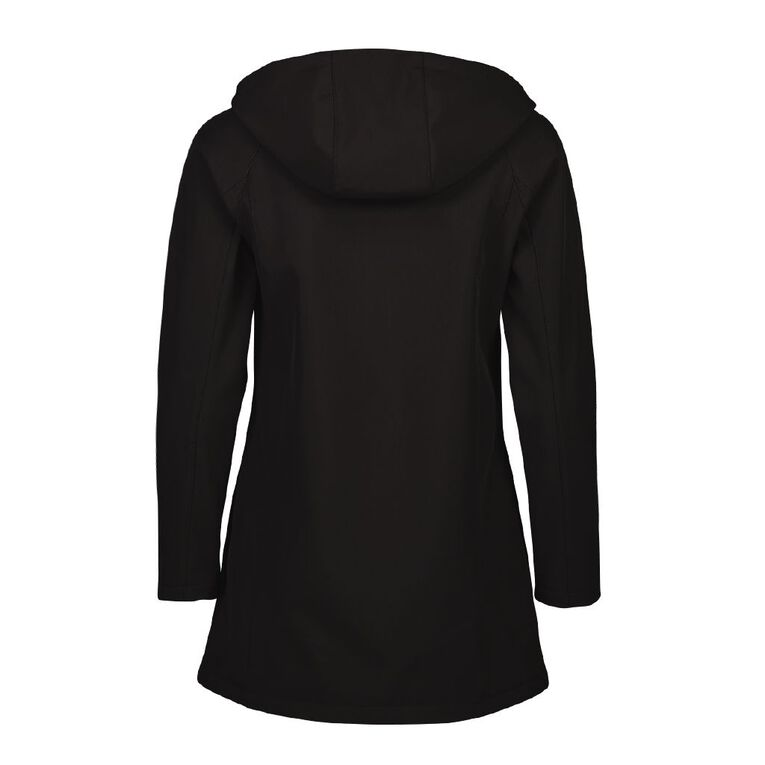 Active Intent Women's Bonded Longline Jacket, Black, hi-res