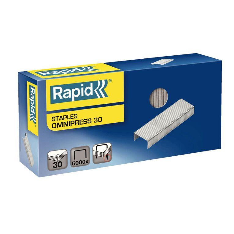 Rapid Staples Omnipress 30 Sheet 6mm 5000 Box, , hi-res