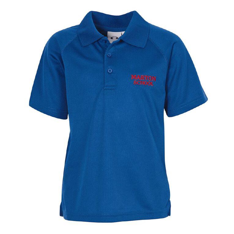 Schooltex Marton School Short Sleeve Polo with Embroidery, Royal, hi-res
