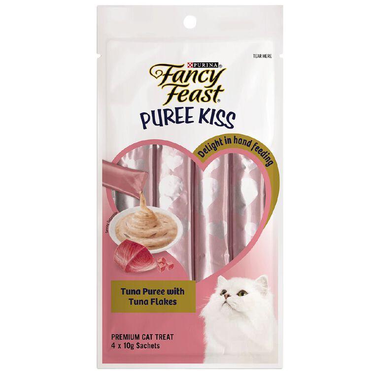 Fancy Feast Puree Kiss Cat Treats Tuna With Tuna Flakes 40g, , hi-res