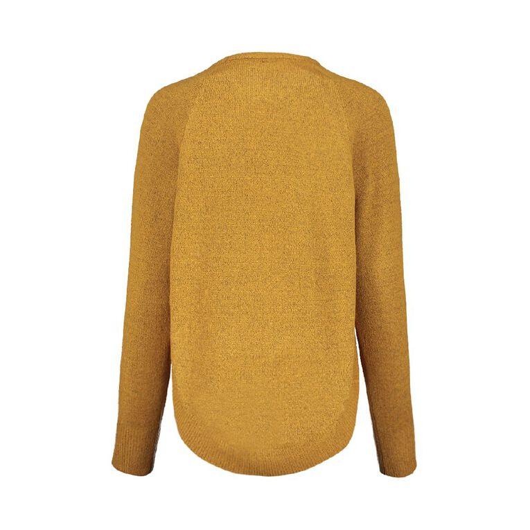 H&H Scoop Hem Spongy Knit, Brown Mid, hi-res
