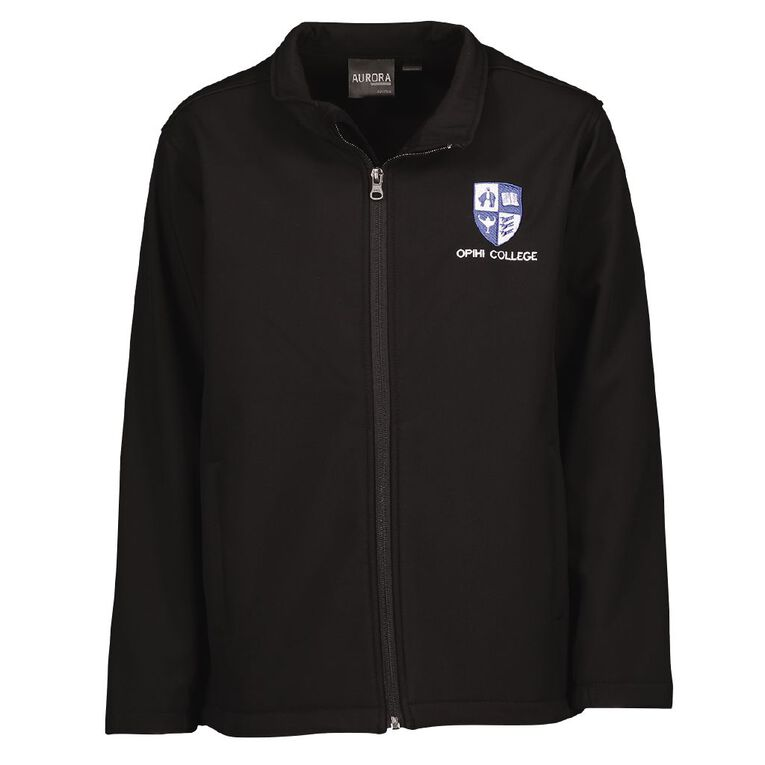 Schooltex Opihi College Jacket with Embroidery, Black, hi-res