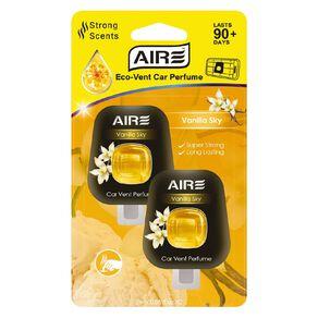 Aromate Air Eco Vent Mount Diffuser Car Air Freshener Vanilla 2 Pack