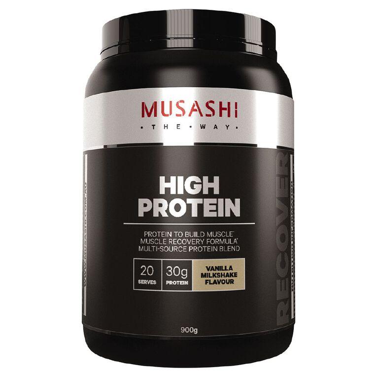 Musashi High Protein Vanilla Milkshake, , hi-res