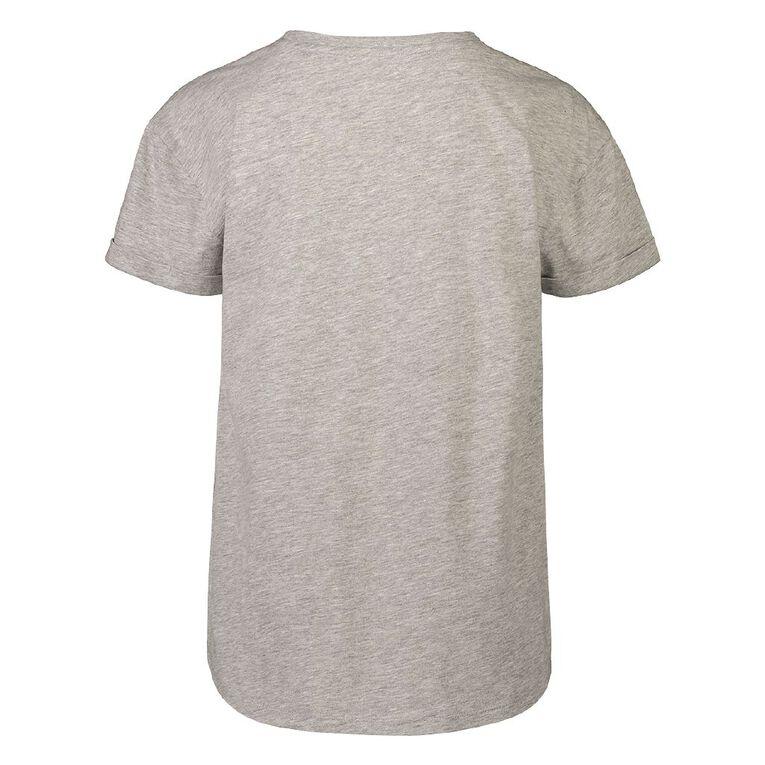 Young Original Short Sleeve Mia Tee, Grey Mid, hi-res