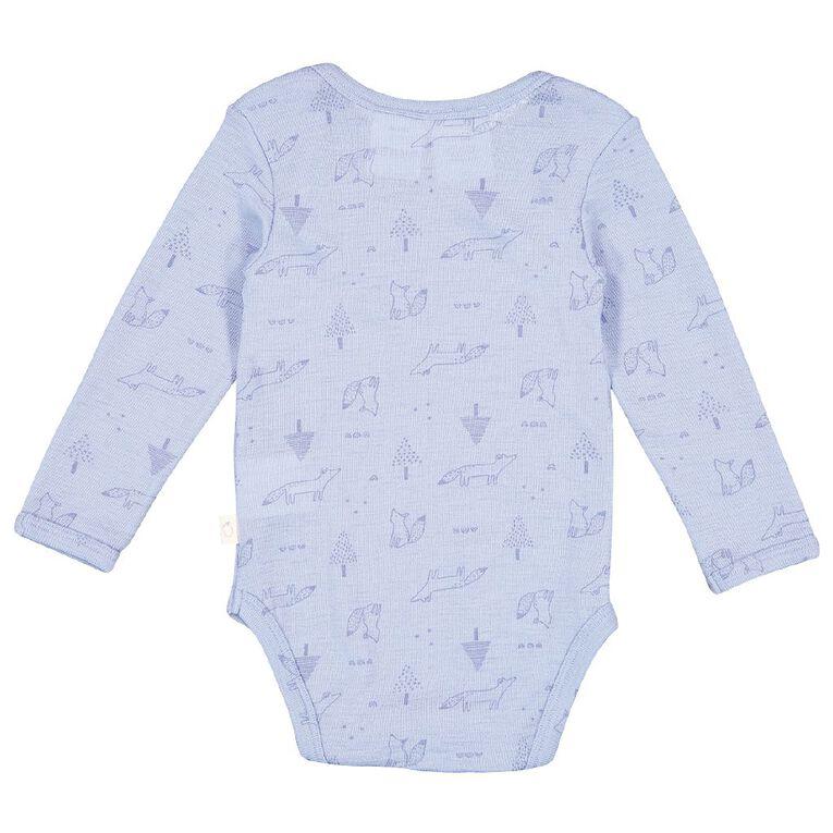 Young Original Baby Merino Bodysuit, Blue Light, hi-res