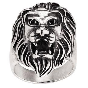 Stainless Steel Men's Lion Ring