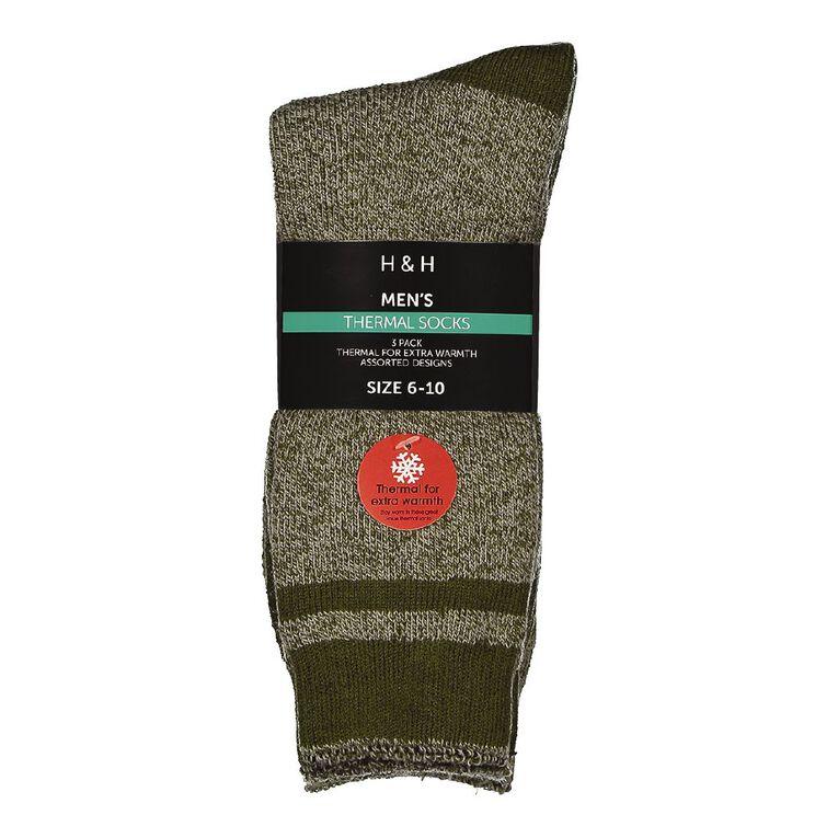 H&H Men's Thermal Socks 3 Pack, Grey Light, hi-res