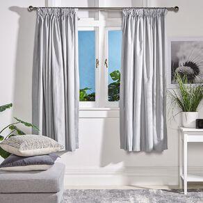 Living & Co Metro Curtains Grey 230-330cm Wide/205cm Drop
