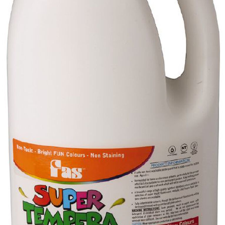 FAS Paint Super Tempera White 2L, , hi-res