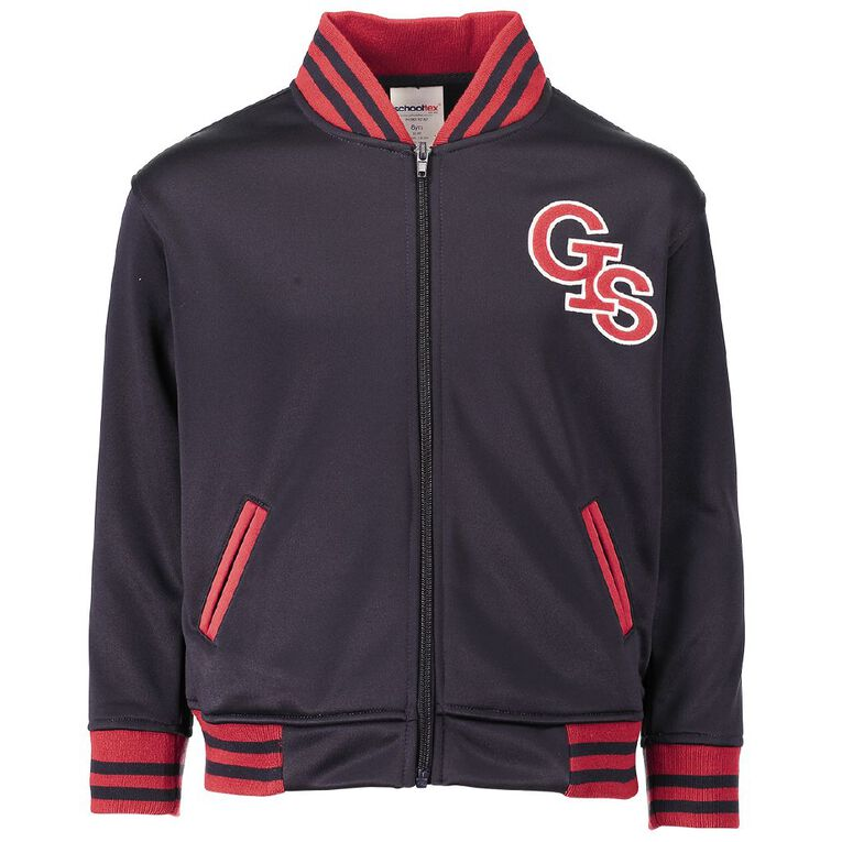 Schooltex Greenmeadows Intermediate Bomber Jacket with Embroidery, Navy/Red, hi-res