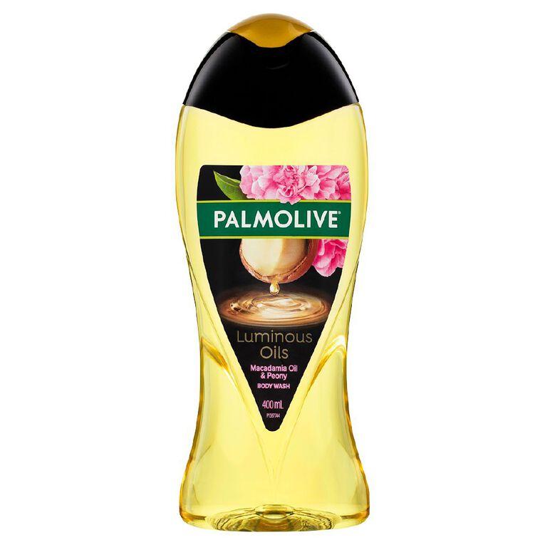Palmolive Luminous Oils Shower Gel Invigorating Macademia Oil 400ml, , hi-res