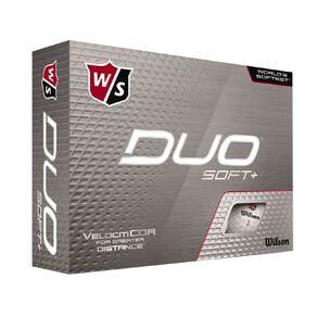 Wilson Duo Soft + 12 Golf Balls White