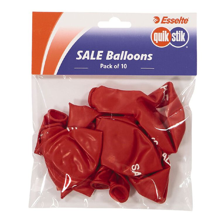 Quik Stik Labels Sale Balloons 10 Pack Red, , hi-res