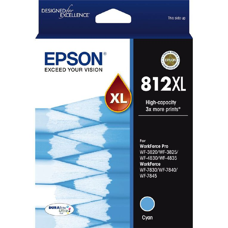 Epson Ink 812XL Cyan (1100 Pages), , hi-res