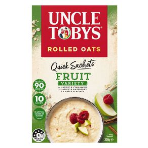 Uncle Tobys Quick Oats Fruit Variety 350g