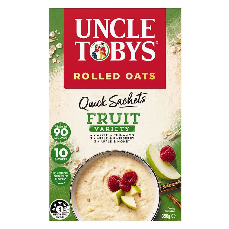 Uncle Tobys Quick Oats Fruit Variety 350g, , hi-res