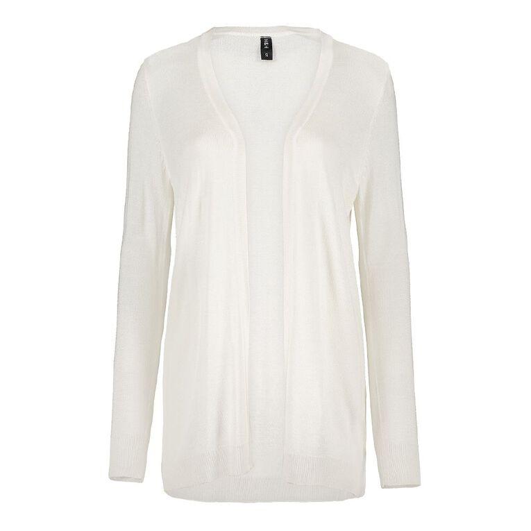 H&H Light Cardigan, White, hi-res image number null