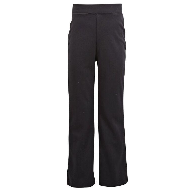 Schooltex Casual Bootleg Pants, Black, hi-res
