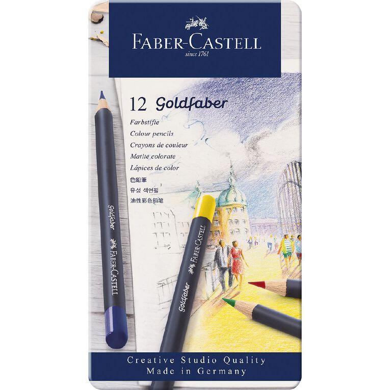 Faber-Castell Goldfaber Colour Pencils Tin 12 Pack, , hi-res