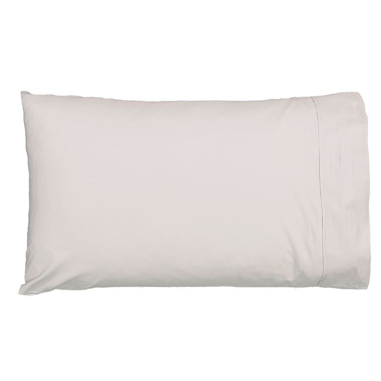 Living & Co Pillowcase Standard Cotton 400 Thread Count Grey 48cm x 73cm, Grey, hi-res