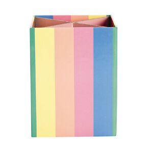 Kookie Novelty Pen Holder Rainbow Multi-Coloured