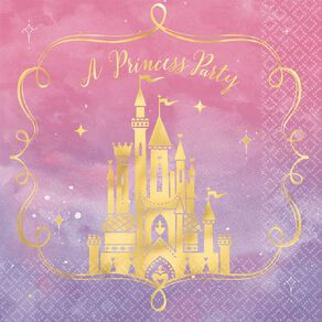 Disney Princess Once Upon A Time Lunch Napkins 16 Pack