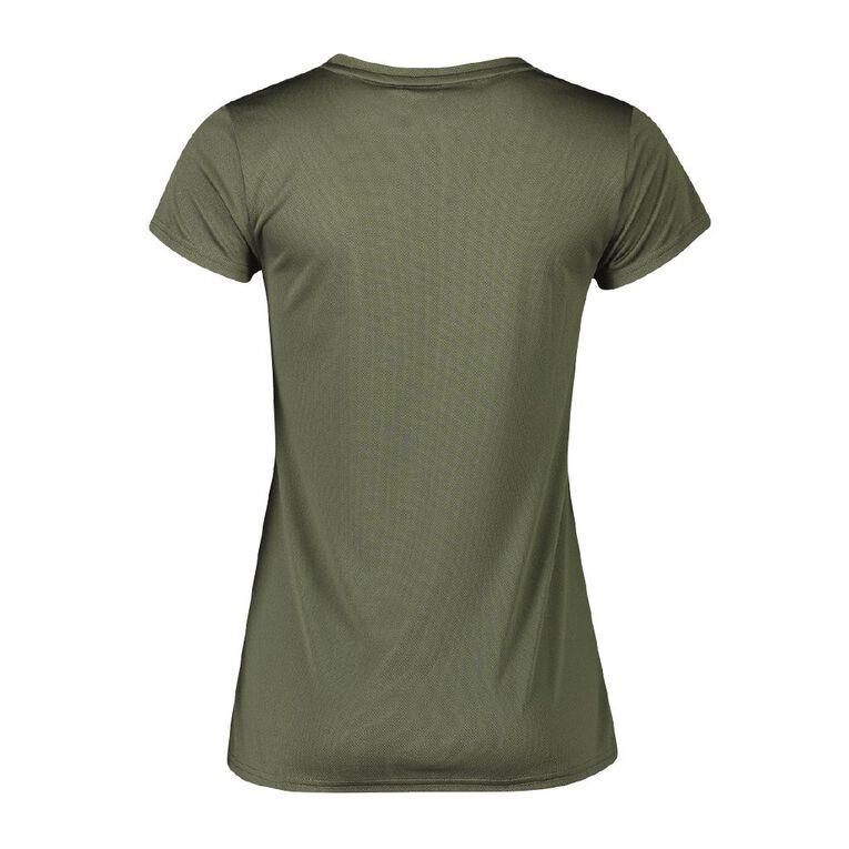 Active Intent Women's Cooldry Tee, Green Dark, hi-res