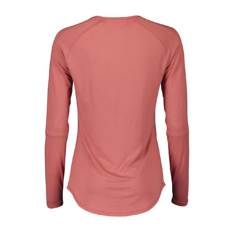 Active Intent Women's Long Sleeve Colour Block Tee, Pink Mid, hi-res