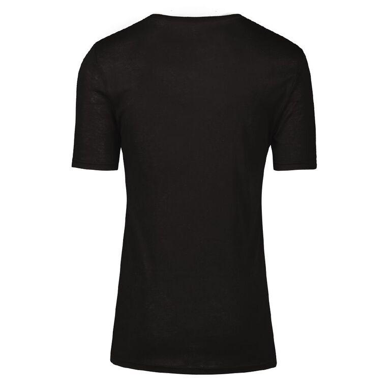 H&H Men's Polyester Viscose Thermal Top, Black, hi-res