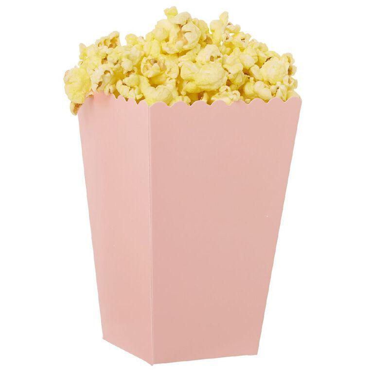 Party Inc Popcorn Boxes Pastel Pink 8 Pack, , hi-res